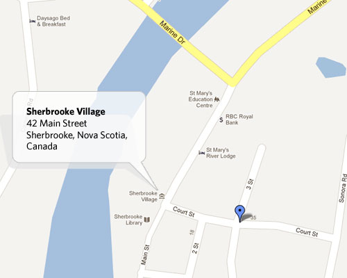 Sherbrooke Village - Google Map